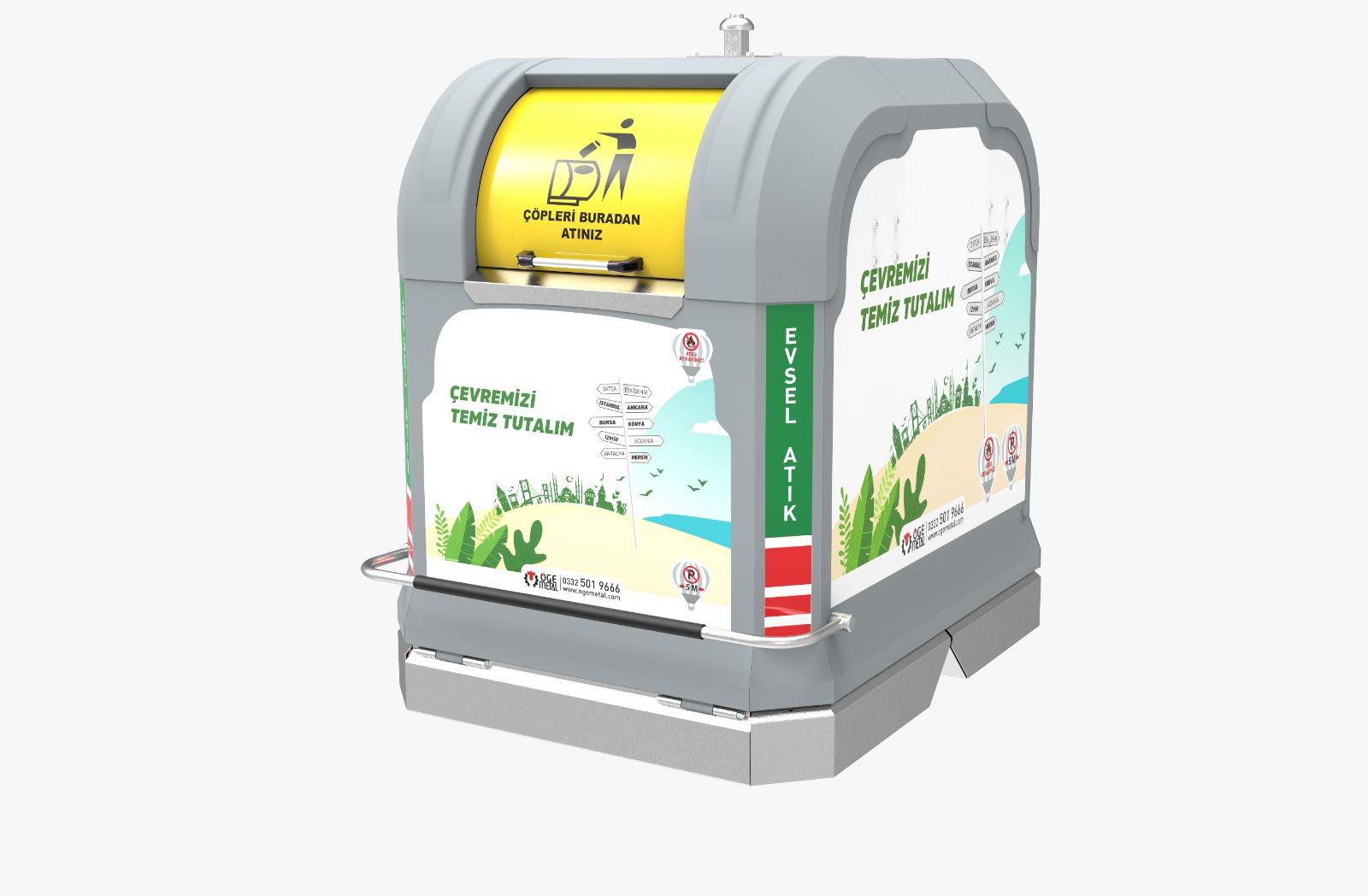 Yeni 3750 Litre Yerüstü Çöp Konteyner Sistem