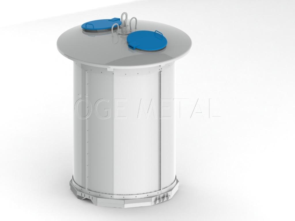 5000 Litre Yarı Yeraltı Çöp Konteyner Sistemi