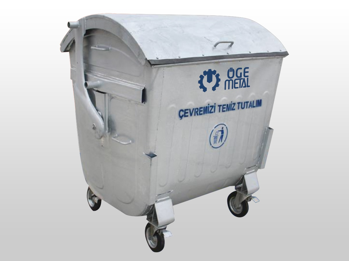 1100 Lt. Hot Dip Galvanized Waste Container With Dome Lid